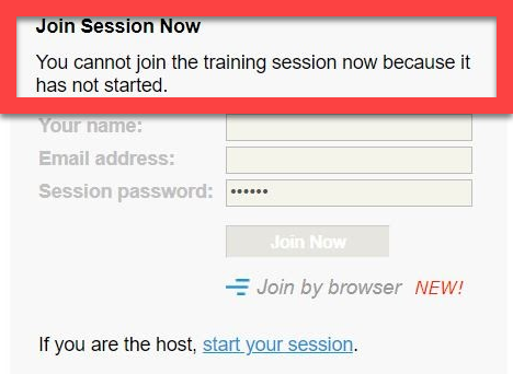 WebEx Cant Join Now