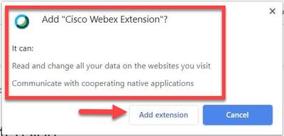 WebEx Cisco Extension