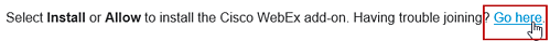 WebEx Internet Explorer